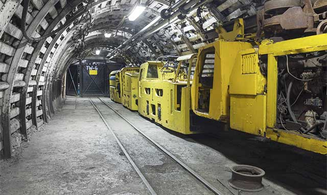 Electrical system in a coal mine.