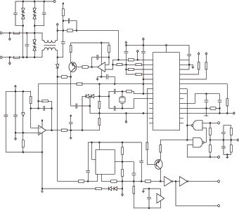 Schematic diagram of a mine's electrical system