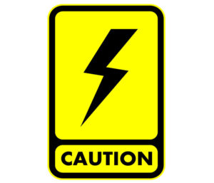 electricity caution sign